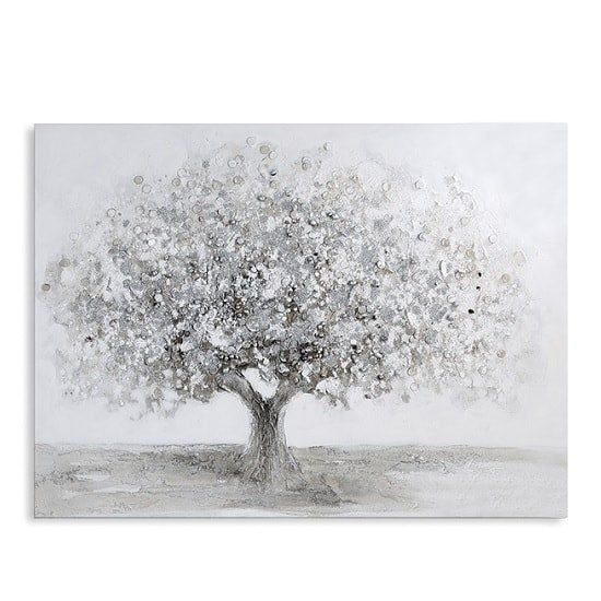 Big Tree Canvas Oil Painting In Wooden Frame