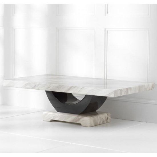 Biham Marble Top Coffee Table In Cream