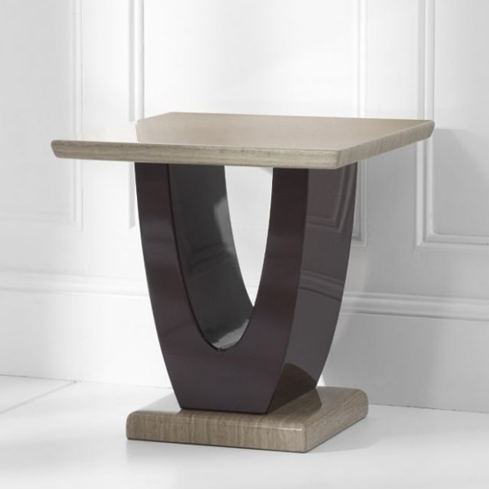 Bicham Marble Top Lamp Table In Brown