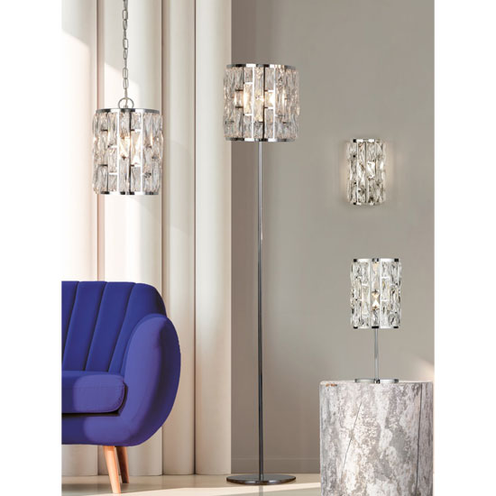 Bijou 1 Bulb Table Lamp In Chrome With Crystal Glass_2