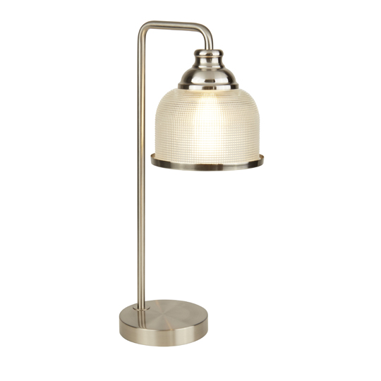 Bistro II 1 Light Table Lamp In Satin Silver