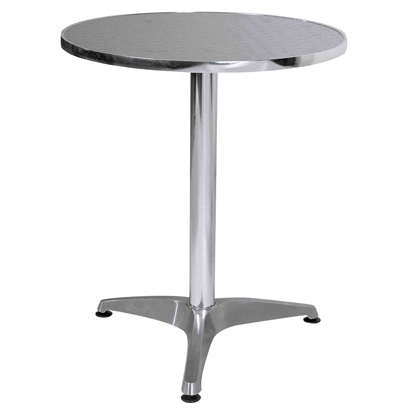 Bistro Round Table In Aluminium