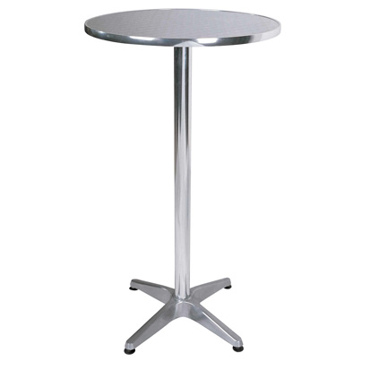 Bisect Bistro Tall Bar Table Round In Aluminium