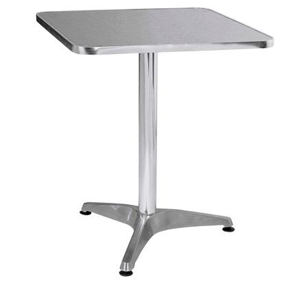 Bistro Square Table In Aluminium