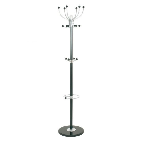 Mecki Coat Stand In Black/Chrome With Marble Base