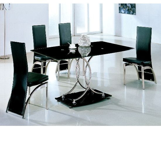 black glass dining sets naplesD212 - Dining Set Add Sophistication to Your Dining Room