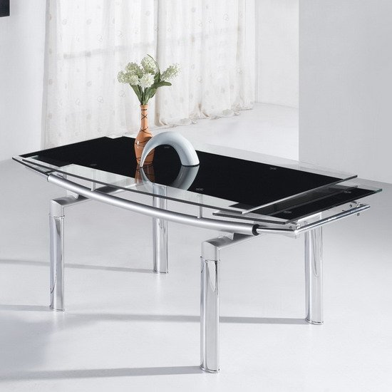 black glass dining tables megaDinBlk - Dining Table and Chairs Are They Outdated?