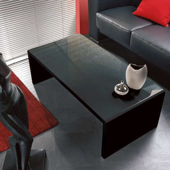 black gloss coffee table 86590 - High-Gloss Coffee Tables: Black or White?