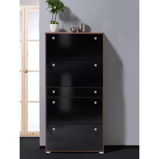 hi gloss black shoe storage cabinet