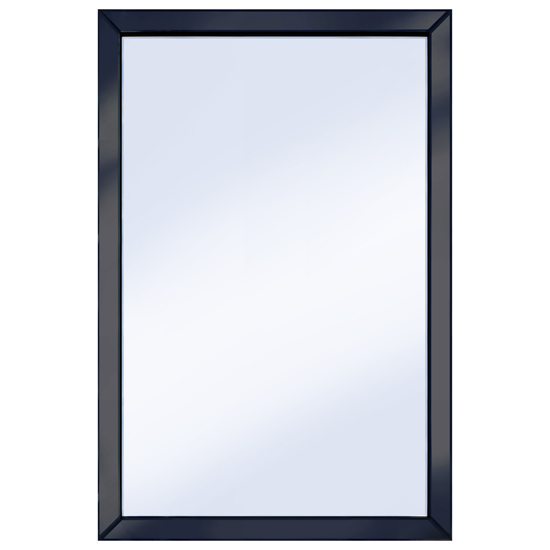 Brilliance black 120x80 large wall mirror for Mirror 120 x 80
