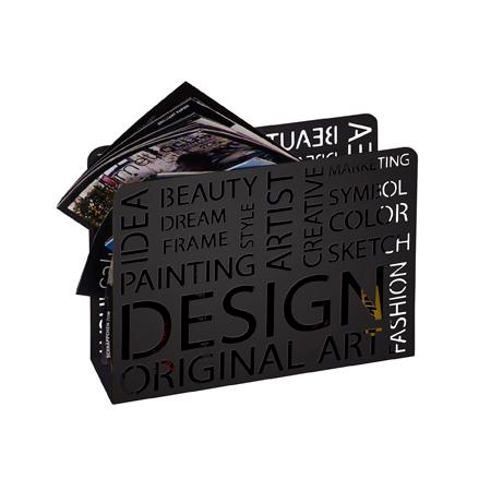 Design Magazine Rack in Black, 44595