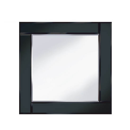 bevelled black 60x60 square wall mirror 15133 furniture in. Black Bedroom Furniture Sets. Home Design Ideas