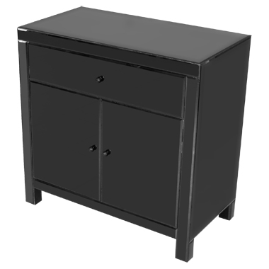 Read more about Black mirrored cabinet