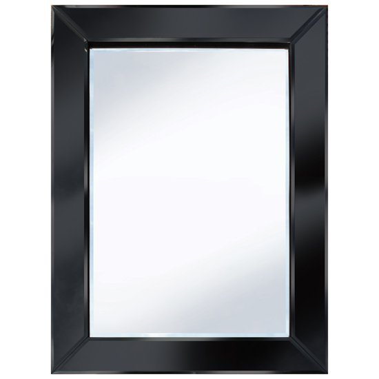 Brilliance Black 60x80 Rectangle Wall Mirror Po895blk