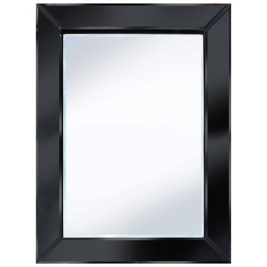 Brilliance black 60x80 rectangle wall mirror po895blk for Mirror 60 x 80