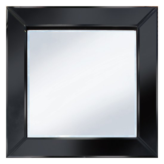 Brilliance Black 60x60 Square Wall Mirror Po895blk 15124