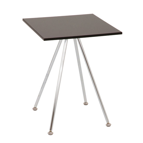 Wito Square Side End Table In Black Gloss