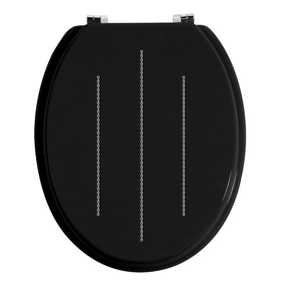 Diamante Black Toilet Seat