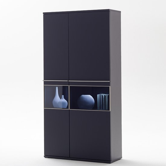 Black Collection Combination Display Cabinet With Led Lights