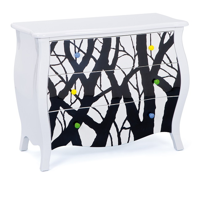 Baroque Style Chest Of Drawers Tree Design