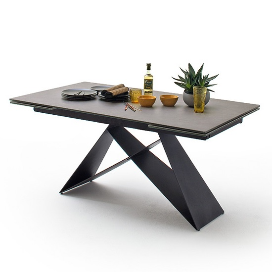 Blaine Glass Extendable Dining Table In Anthracite_2