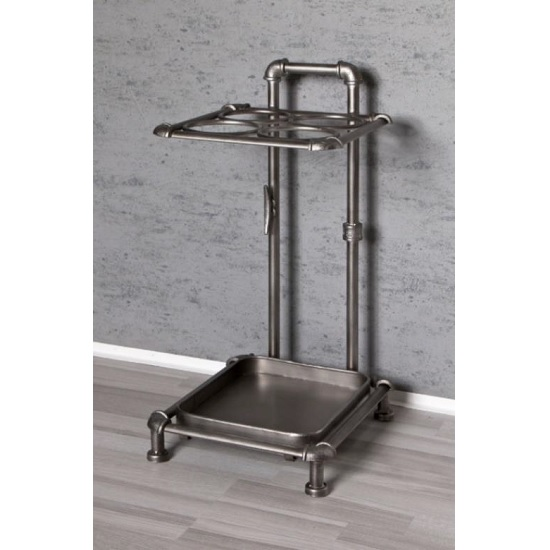 Blair Metal Umbrella Stand In Anthracite Lacquered