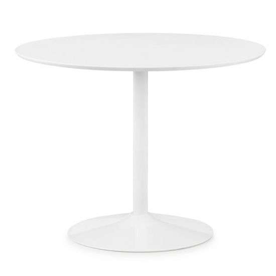 Blanco Round Wooden Dining Table In White