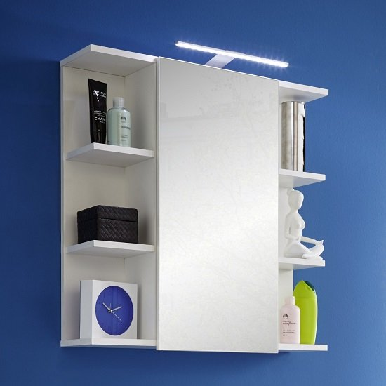 bathroom cabinets blanco mirrored wall cabinet in white and high gloss