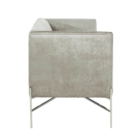 Blaze Fabric 2 Seater Sofa In Slate And Polished Stainless Steel_3