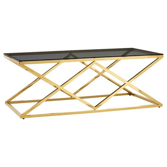 Algorab Black Glass Coffee Table With Stainless Steel Frame