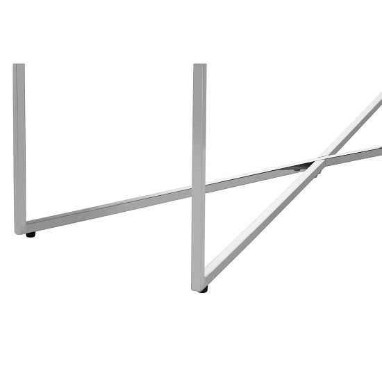 Algorab Glass Console Table With Silver Finish Cross Base   _5