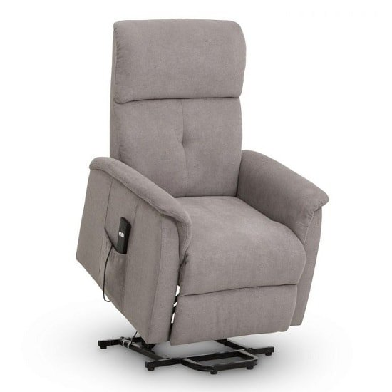 Bliss Fabric Recliner Chair In Taupe Chenille