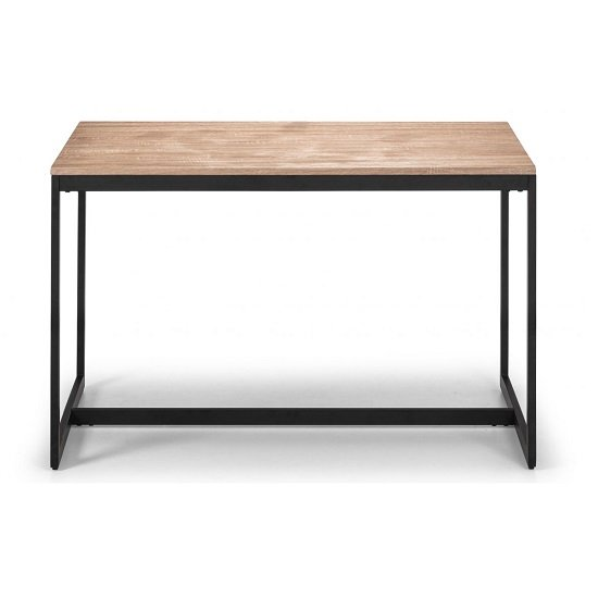 Blythe Dining Table In Sonoma Oak Effect With Black Frame