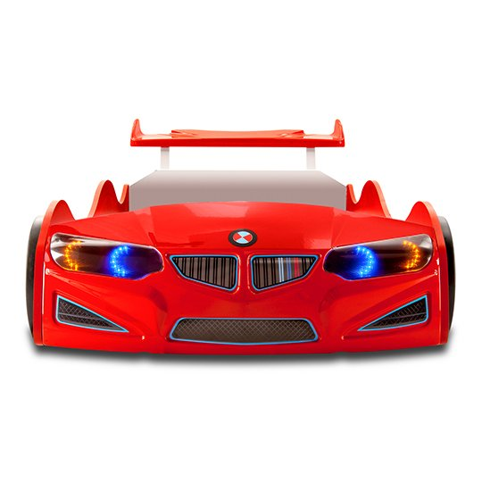 BMW GTI Childrens Car Bed In Red With Spoiler And LED_4