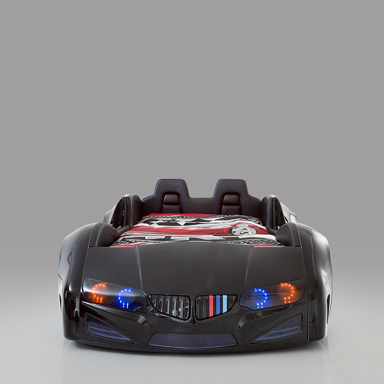 BMW Childrens Car Bed In Black With LED And Leather Seats_6