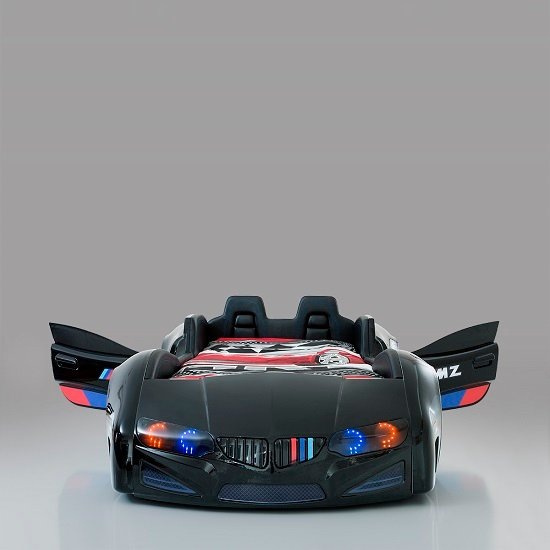 BMW Childrens Car Bed In Black With LED And Leather Seats_7