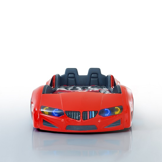 BMW Childrens Car Bed In Red And LED With Leather Seats_2