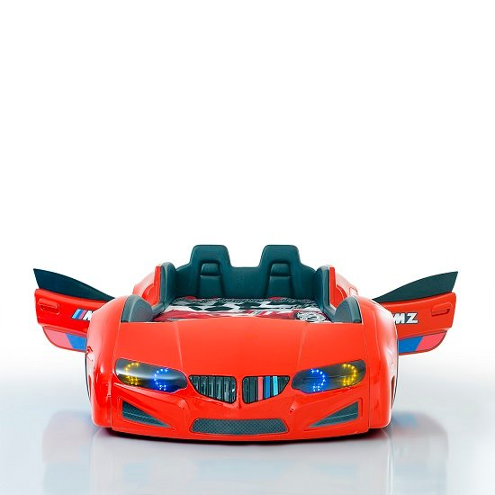 BMW Childrens Car Bed In Red And LED With Leather Seats_3