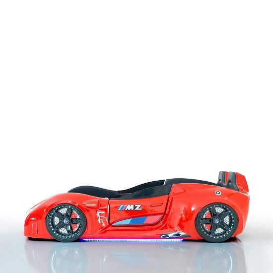 BMW Childrens Car Bed In Red And LED With Leather Seats_4