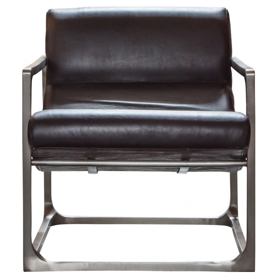 Boda Leather Lounge Chair In Black_1