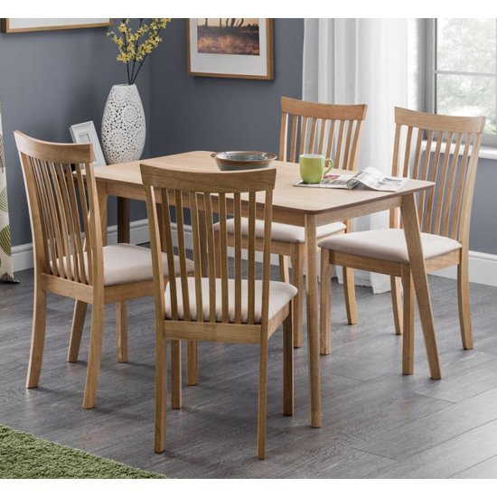 Boden Dining Set In Low Sheen With 4 Ibsen Chairs