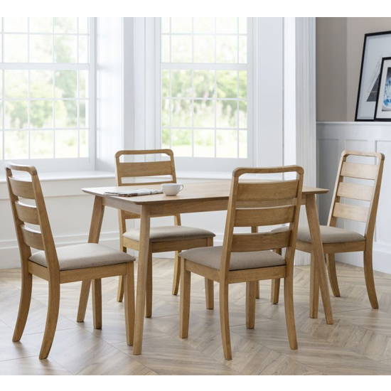 Boden Dining Set In Waxed Oak With 4 Lars Chairs