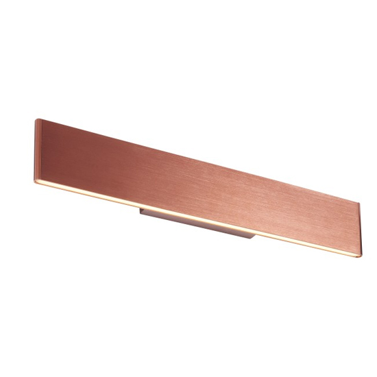 Bodhi Large Acrylic Wall Light In Brushed Copper