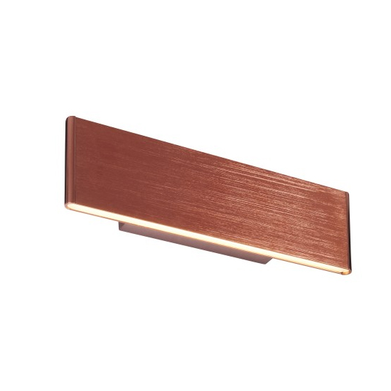 Bodhi Small Acrylic Wall Light In Brushed Copper