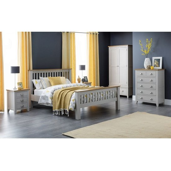 Bohemia Wooden Bedside Cabinet In Grey With 3 Drawers_4