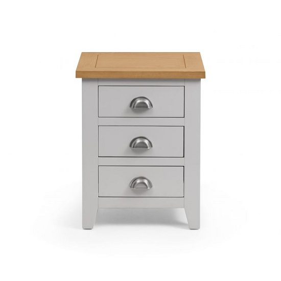 Bohemia Wooden Bedside Cabinet In Grey With 3 Drawers_3