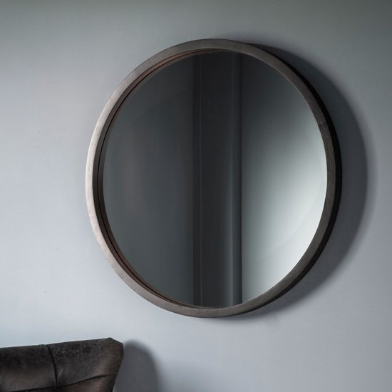 Boho Boutique Bedroom Mirror With Matt Black Charcoal Frame