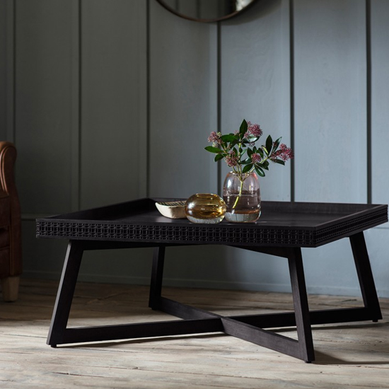 Boho Boutique Coffee Table In Matt Black Charcoal