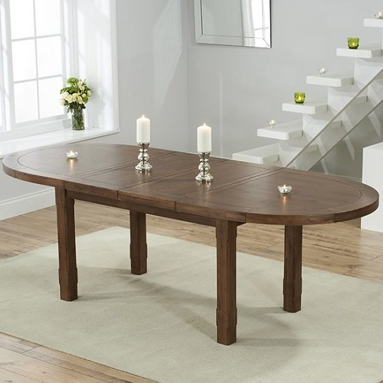 dining tables bologna extendable wooden dining table oval in dark oak
