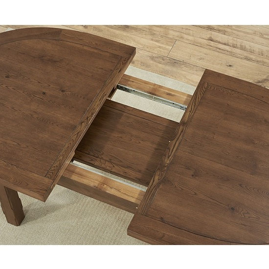 Bologna Extendable Wooden Dining Table Oval In Dark Oak
